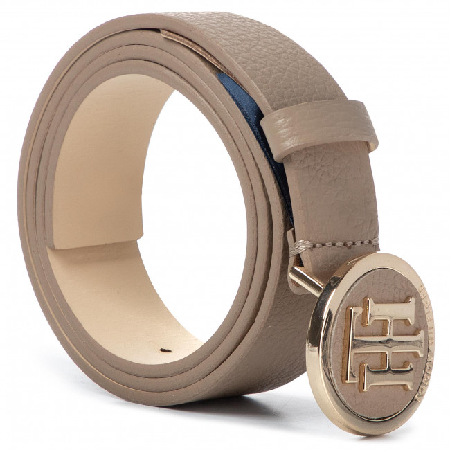 Pasek Damski TOMMY HILFIGER - Th Round Buckle Belt 3.0 AW0AW07143  GES