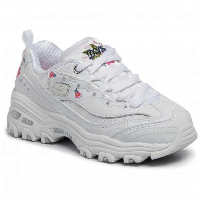 Sneakersy SKECHERS D'lites Bright Blossoms 80589LWHT White