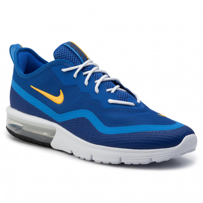 Buty NIKE Air Max Sequent 4.5 BQ8822 401 Game RoyalUniversity Gold