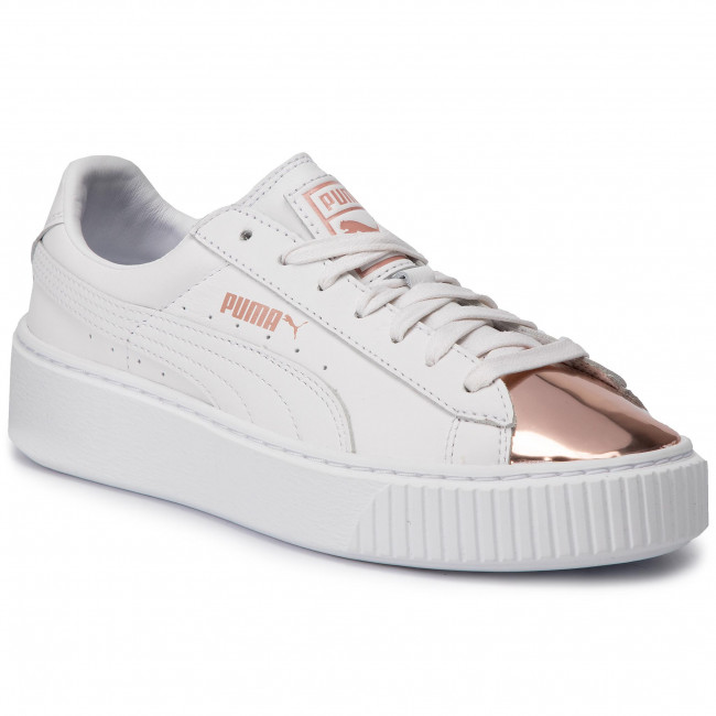 Sneakersy PUMA Basket Platform Metallic 366169 03 Puma WhiteRose Gold