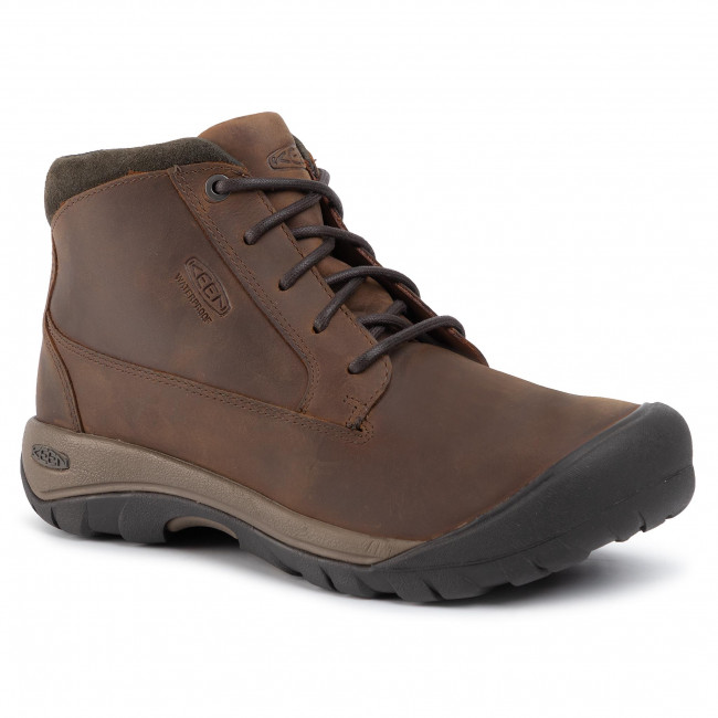 Trzewiki KEEN - Austin Casual Boot Wp 1019505 Chocolate Brown/Black Olive
