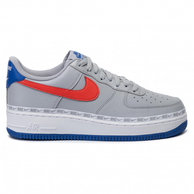 Buty NIKE Air Force 1 '07 Lv8 CD7339 001 Wolf GreyHabanero Red