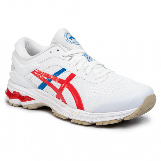 Buty ASICS - Gel-Kayano 26 1011A771 White/Classic Red 100/1