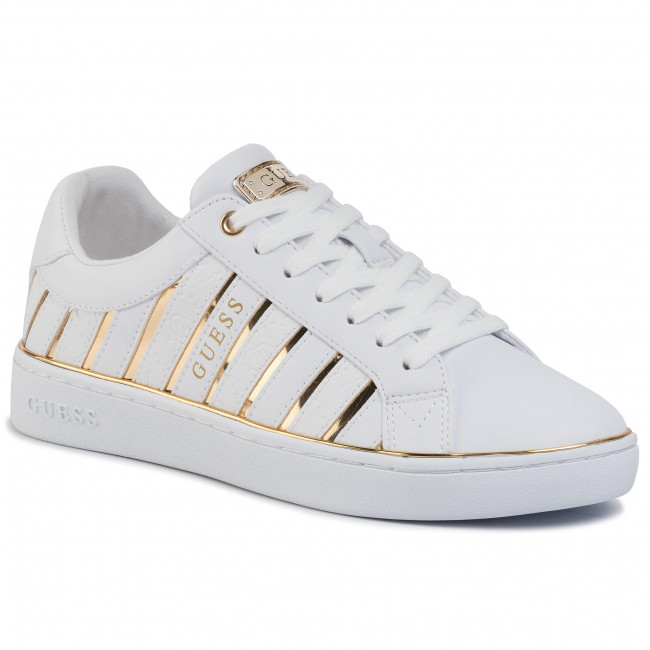 Sneakersy GUESS - Bolier FL5BOL ELE12 WHITE/GOLD