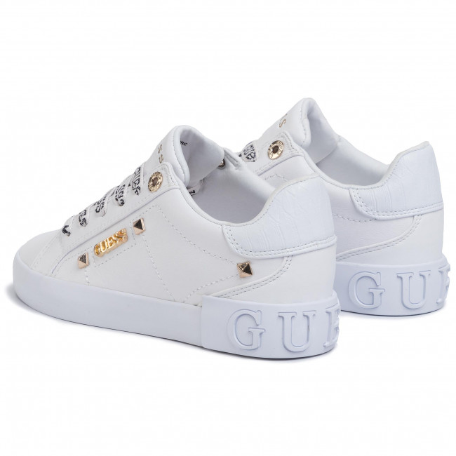 Sneakersy GUESS Puxly FL5PUX LEA12 WHITE