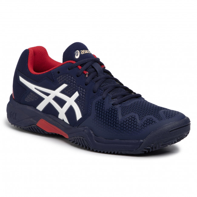 Buty ASICS Gel Resolution 8 Clay Gs 1044A019 PeacoatClassic Red 400