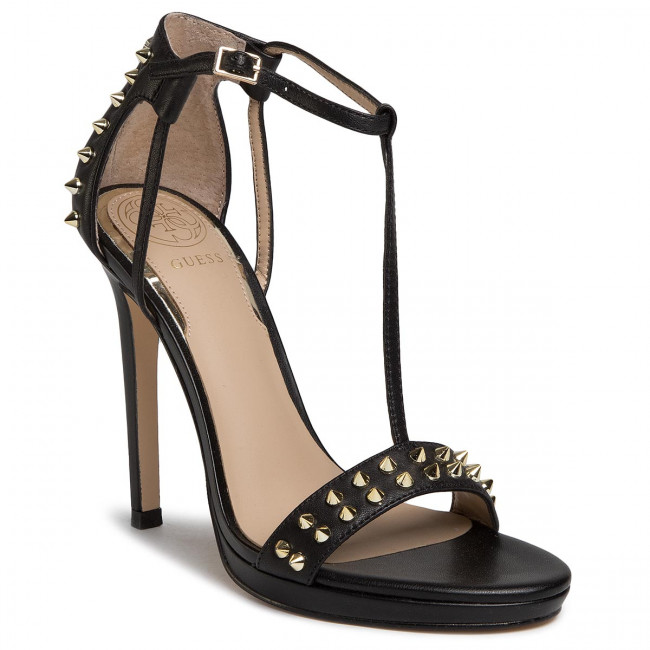 Sandały GUESS - Tedan FL6TEN LEA03 BLACK