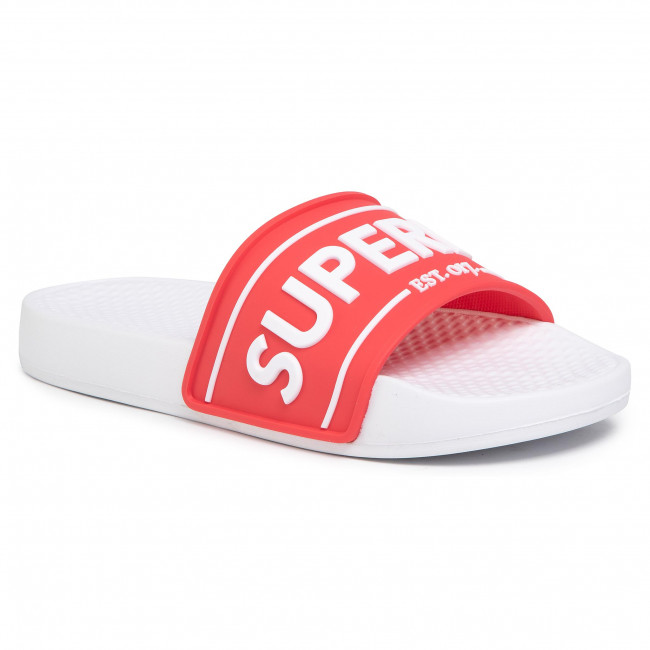 Klapki SUPERDRY - Edit Chunky Slide WF310002A Red 171