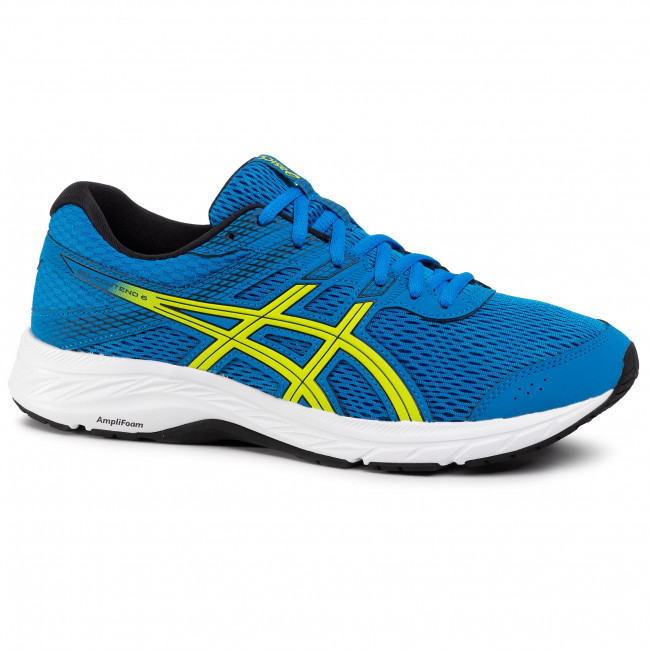 Buty ASICS Gel Contend 6 1011A667 Directoire BlueNeon Lime 401