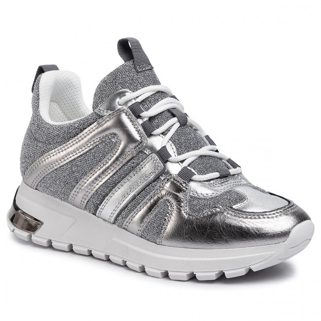 Sneakersy DKNY - Lace Up Sneake K4912347 Silver/Sil