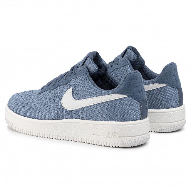 air force one flyknit blue
