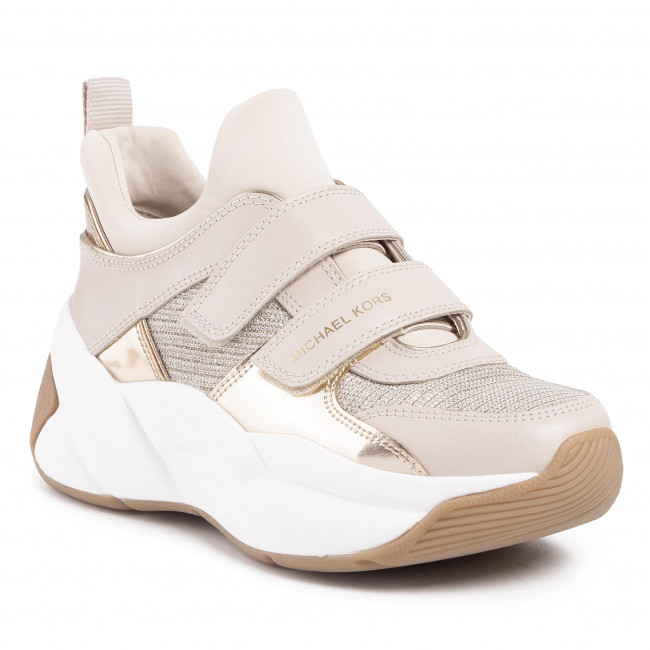 Sneakersy MICHAEL MICHAEL KORS - Keeley Trainer 43R0KEFS6D Pale Gold