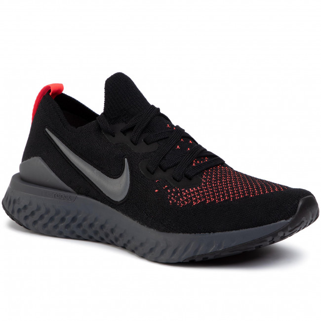 Buty NIKE - Epic React Fk 2 CJ9695 001 Black/Dark Grey/Flash Crimson