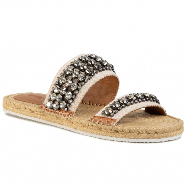 Espadryle SEE BY CHLOÉ - SB34175A Ribbon 120 Latte/Strass Cry.Lgold