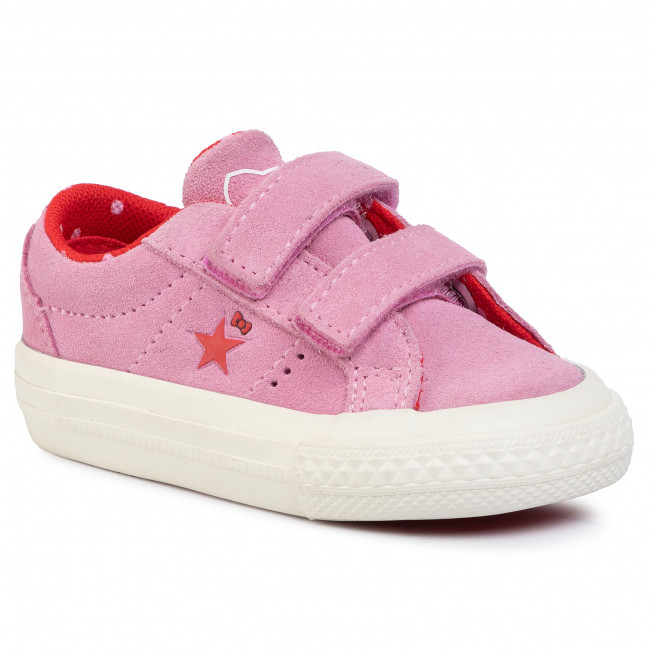 Tenisówki CONVERSE One Star 2V Ox 762943C Prism PinkFiery RedEgret