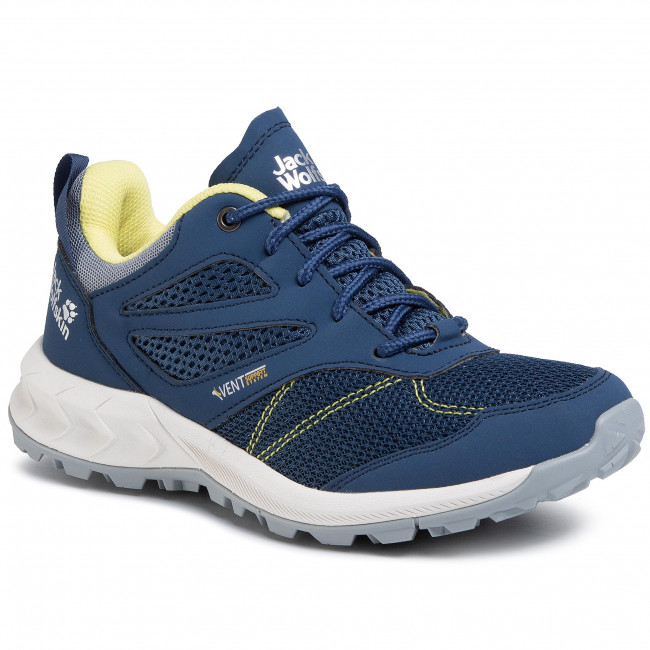 Trekkingi JACK WOLFSKIN - Woodland Vent Low W 4039251 Blue/Lemon