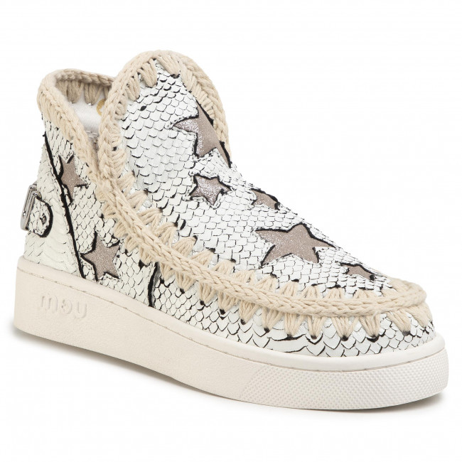Buty MOU - Summer Eskimo Sneaker With Stars Whibk