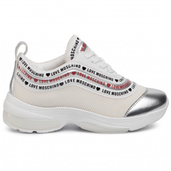 Sneakersy LOVE MOSCHINO JA15135G1AIP310A BianArge