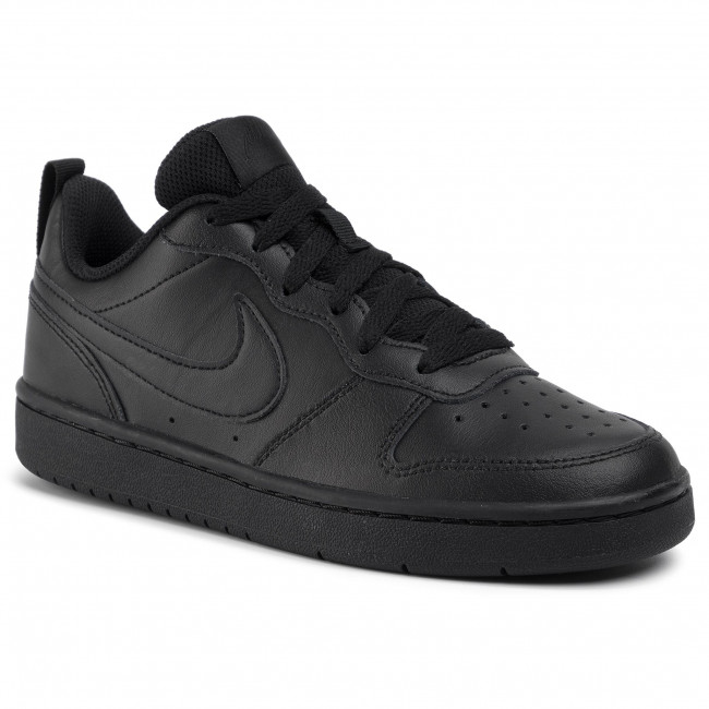 Buty NIKE - Court Borough Low 2 (GS) BQ5448 001 Black/Black/Black