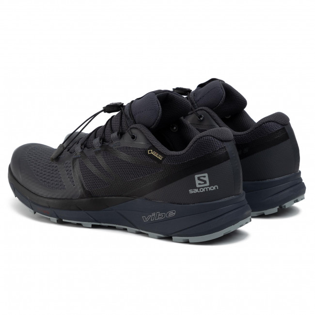 Buty SALOMON Sense Ride2 Gtx Invisible FIt GORE TEX 407078 20 G0 EbonyBlackQuarry