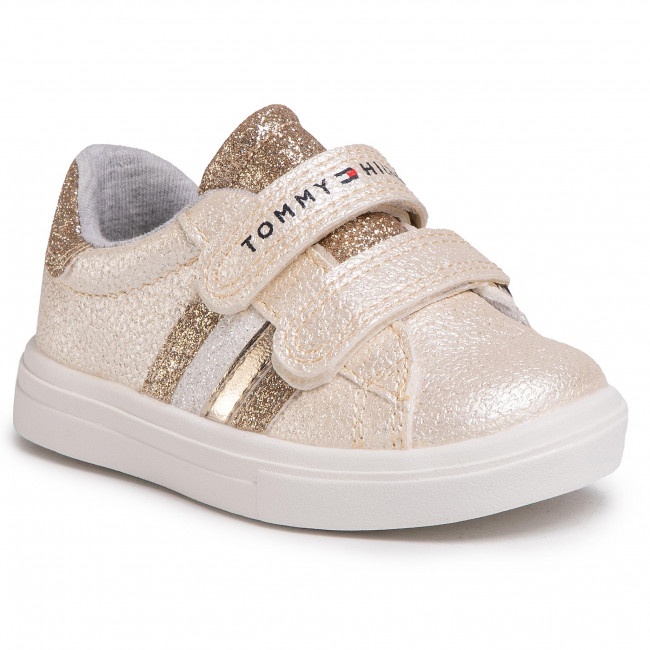 Sneakersy TOMMY HILFIGER - Low Cut Velcro Sneaker T1A4-30608-0891514  Platinum 514