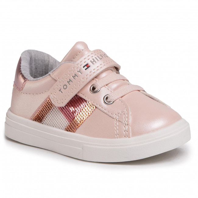 Sneakersy TOMMY HILFIGER - Low Cut Lace T1A4-30609-0892 Pink 302