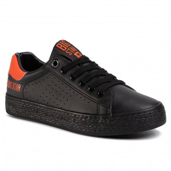 Sneakersy BIG STAR - FF274484 Black/Orange