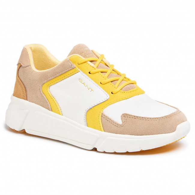Sneakersy GANT - Cocoville 20531536 Br.Wht./Beige/Yellow G294