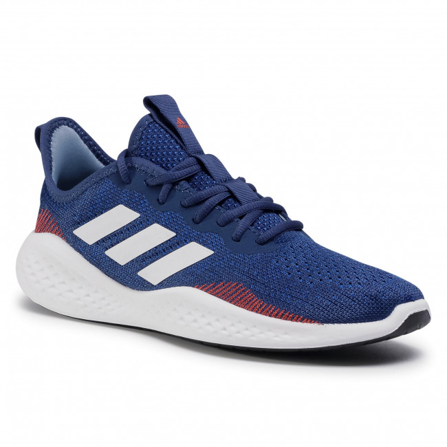 Buty adidas - Fluidflow FW5079  Tech Indigo/Cloud White/Semi Solar Red