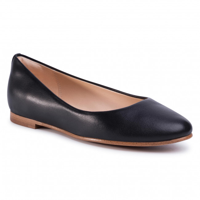 Baleriny CLARKS - Grace Piper 261440424 Black Leather