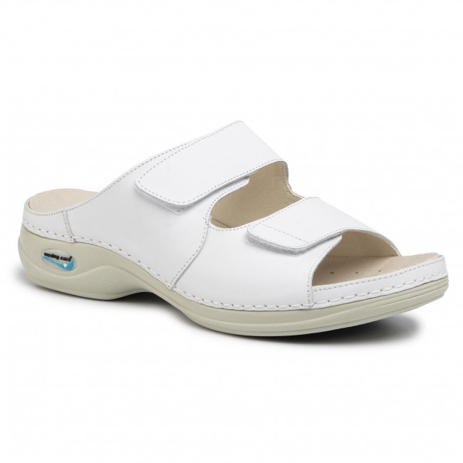 Klapki NURSING CARE - Viena Wg810 Branco/White