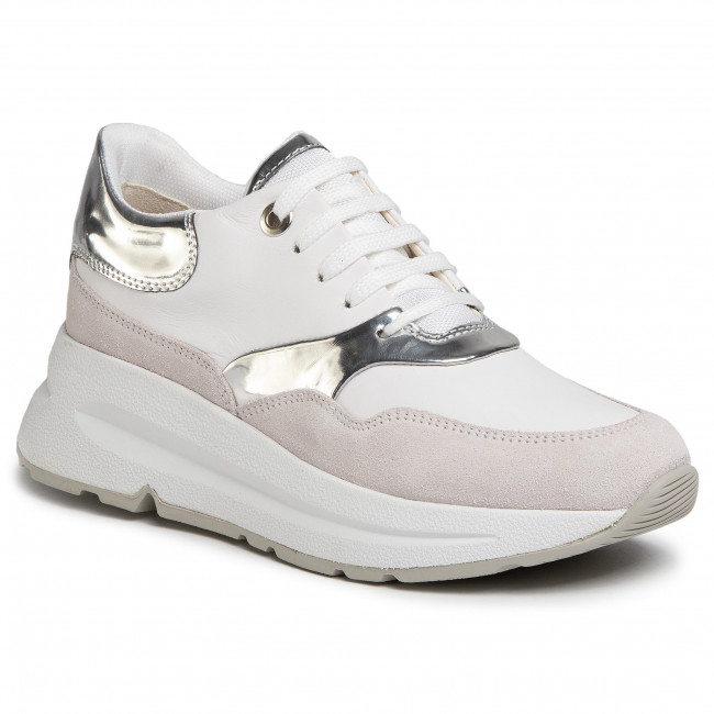 Sneakersy GEOX - D Backsie C D02FLC 085BN C0007 White/Silver