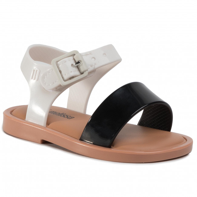 Sandały MELISSA - Mini Melissa Mar Sandal III Bb 32633 Black/White/Brown 52909
