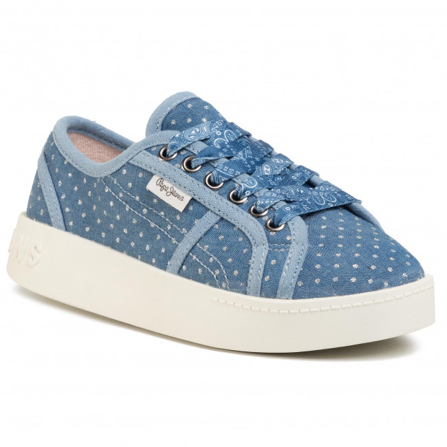 Sneakersy PEPE JEANS - Brixton Denim PGS30430 Denim 000