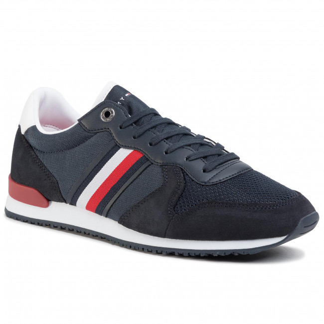 Sneakersy TOMMY HILFIGER - Iconic Material Mix Runner FM0FM02667 Desert Sky DW5