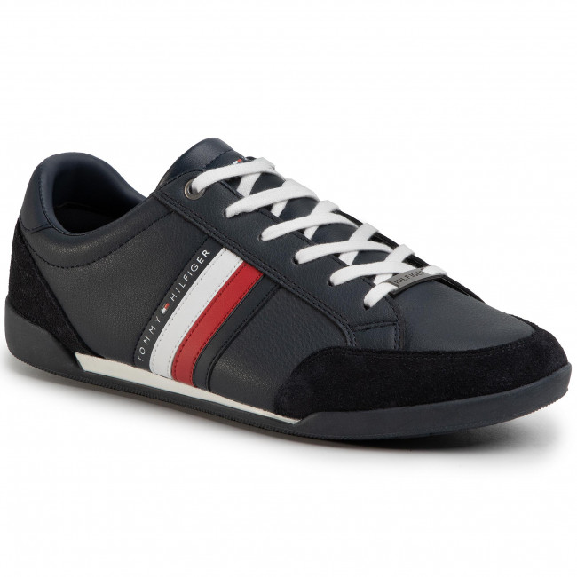 Sneakersy TOMMY HILFIGER - Corporate Material Mix Cupsole FM0FM02665 Desert Sky DW5