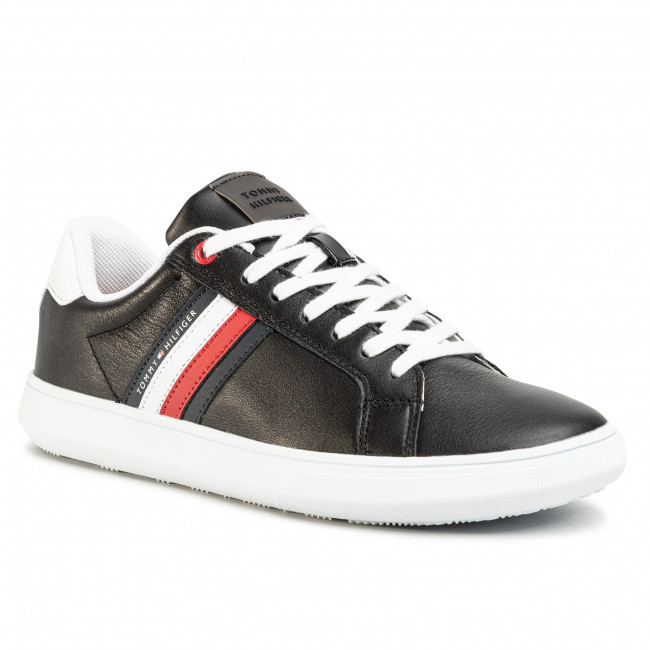 Sneakersy TOMMY HILFIGER - Essential Leather Cupsole FM0FM02668 Black BDS