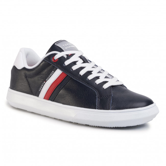 Sneakersy TOMMY HILFIGER - Essential Leather Cupsole FM0FM02668 Desert Sky DW5