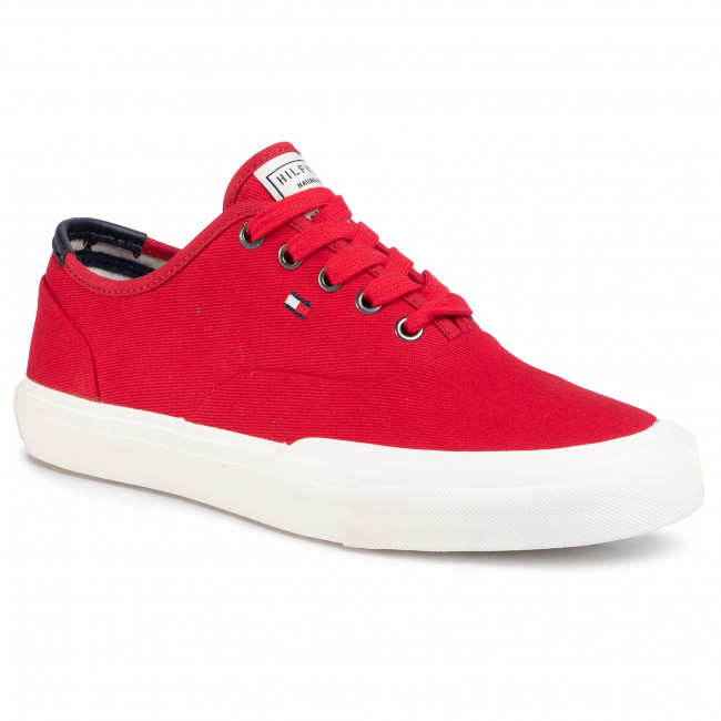 Tenisówki TOMMY HILFIGER - Core Oxford Twill Sneaker FM0FM02670 Primary Red XLG