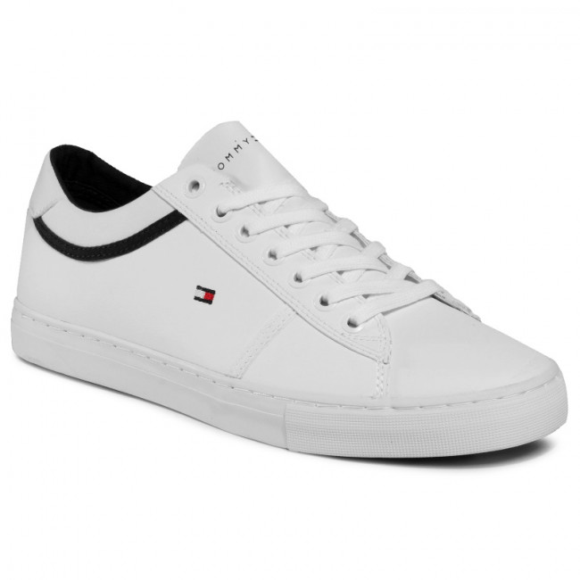 Sneakersy TOMMY HILFIGER - Essential Letaher Sneaker FM0FM02681 White YBS