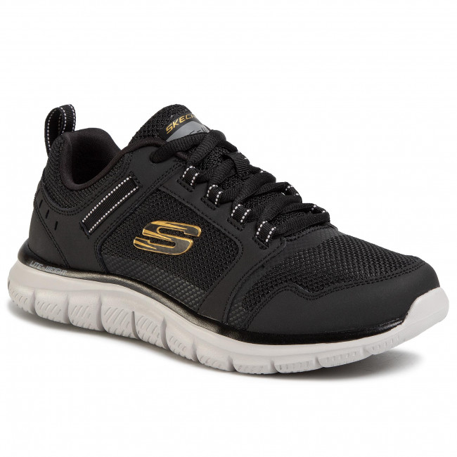 Buty SKECHERS - Knockhill 232001/BKGD Black/Gold
