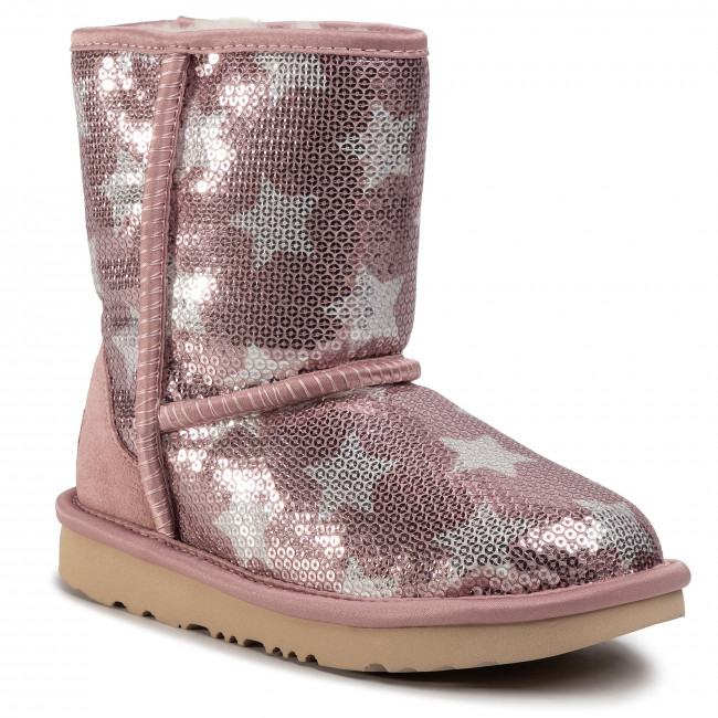 Buty UGG - Kids' Classic Short II Sequin Star 1107988K Pcry