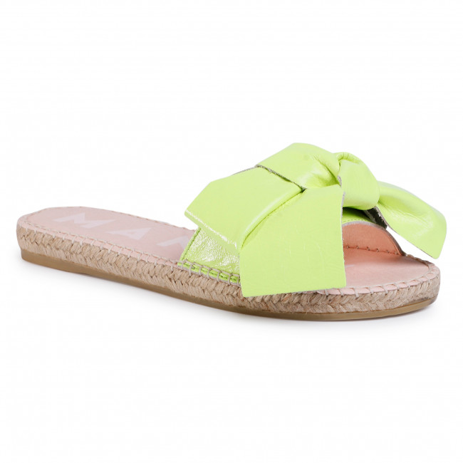 Espadryle MANEBI - Sandals With Bow F 9.0 J0 Yellow Fluo