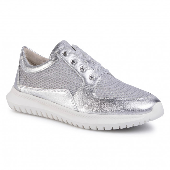 Sneakersy CAPRICE - 9-23752-24 Silver Mesh 937