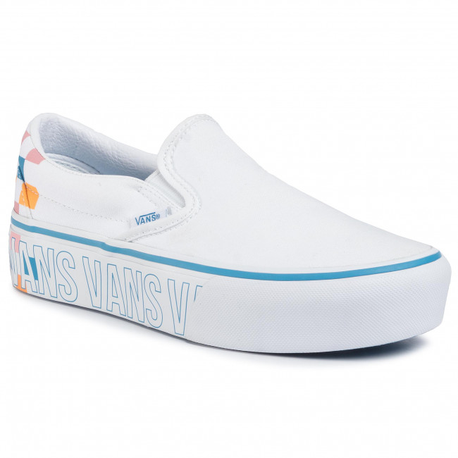 Tenisówki VANS - Classic Slip-On P VN0A3JEZAHP1  True White/Multi