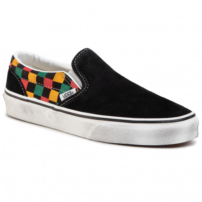 Tenisówki VANS - Classic Slip-On VN0A4U38THN1 (Washed) Black/Multi