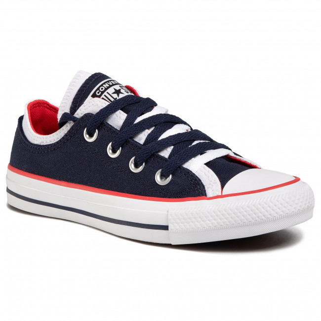 Trampki CONVERSE - Ctas Double Upper Ox 567039C Obsidian/White/University Red