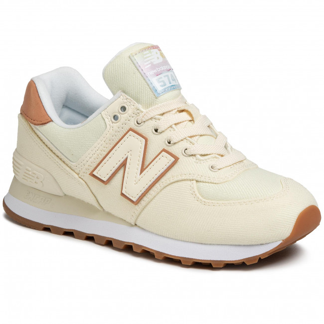 Sneakersy NEW BALANCE - WL574SCB  Beżowy