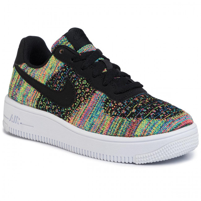 Buty NIKE Air Force 1 Flyknit 2.0 (Gs) BV0063 002 BlackBlackHyper PinkVolt