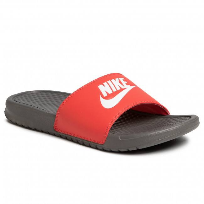Klapki NIKE - Benassi Jdi 343880 028  Iron Grey/White/Track Red
